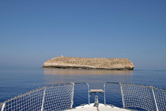 Verso l'isola di Lampione