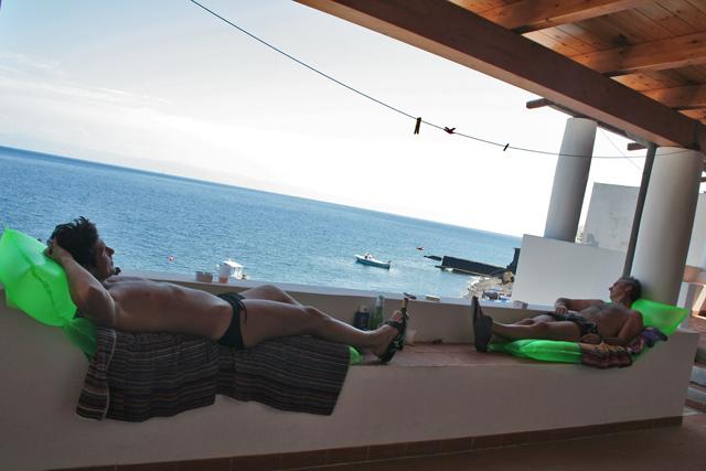 Momento di relax sul terrazzo di Casa Mulino