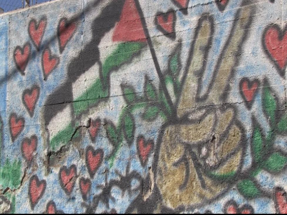 Il muro (campo di Aida, Betlemme)